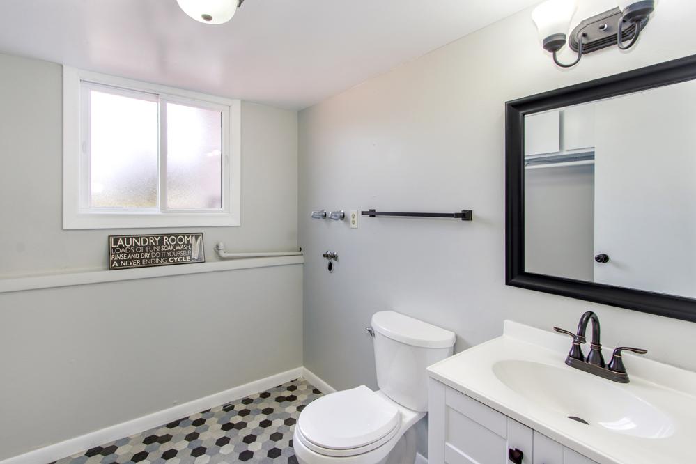 lower level powder room / laundry