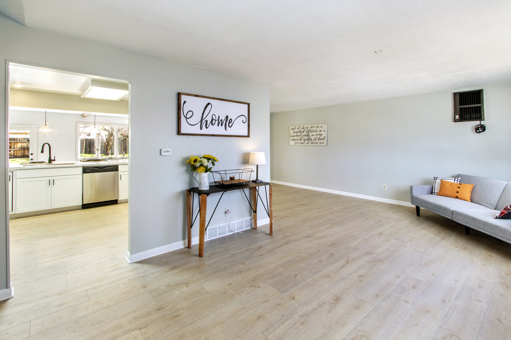 front living room into kitchen